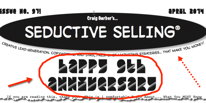 Seductive Selling Newsletter – About Thursday's Call: