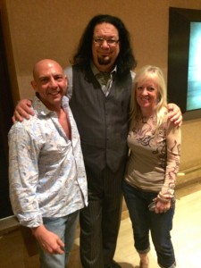 With my wife Anne and Penn Jillette at The Rio in Las Vegas, after his show.