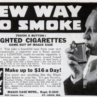 Cigarette Case Lit Cigarettes
